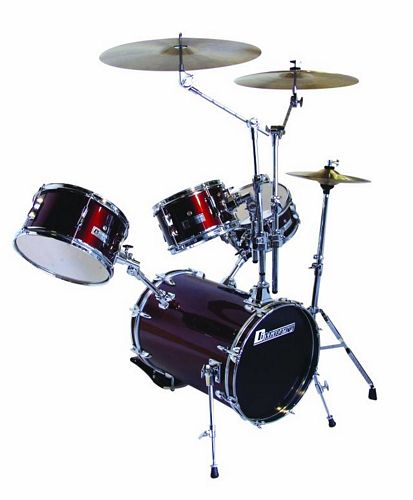 DIMAVERY Bassdrumset DSLB-304 Winered