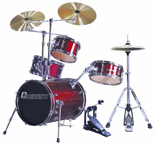 DIMAVERY Bassdrumset DSLB-304 Winered, discoland.fi