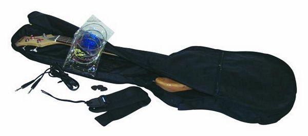 DIMAVERY JB-302 Sähköbasso vasenkätinen, valkoinen, todella tyylikäs sekä laadukas bassokitara vasenkäteiselle.