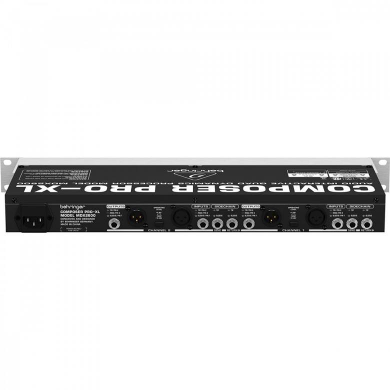 BEHRINGER Composer Pro-XL MDX2600 Ammattiluokan 2-kanavainen xpander/Gate/Compressor/PeakLimiter. Mukana De-Esser, Dynamic Enhancer sekä putki - simulaatio.
