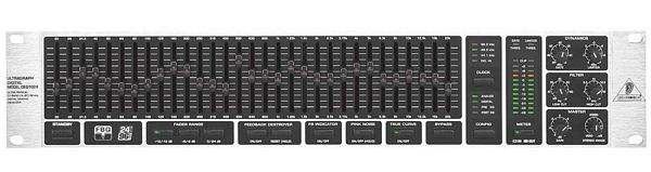 BEHRINGER ULTRAGRAPH DIGITAL DEQ1024 Digital Stereo 31-Band 24-Bit/96 kHz Equalizer, Feedback Destroyer, Dynamics Processor