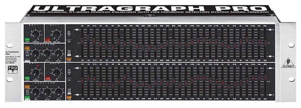 BEHRINGER ULTRAGRAPH PRO FBQ6200 Ultra-Musical 31-Band Stereo Graphic Equalizer with FBQ Feedback Detection System