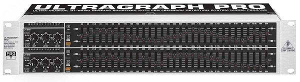 BEHRINGER ULTRAGRAPH PRO FBQ3102 Ultra-Musical 31-Band Stereo Graphic Equalizer with FBQ Feedback Detection System