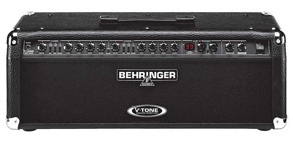 BEHRINGER 2x 60W V-TONE GMX1200H, Kitaranuppi ilman kaiutinta, True Analog Modeling Stereo Guitar Amplifier Head with 2 Independent Channels, each Featuring 27 Modeled Sounds, FX Processor, Tuner and MIDI Control