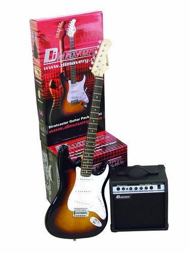DIMAVERY EGS-20 E-Guitar-Set, sunburst. , discoland.fi