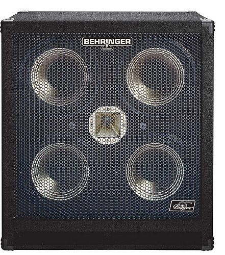 BEHRINGER ULTRABASS BA410, High-Performance 1,000-Watt Bass Cabinet with Original 4 x 10