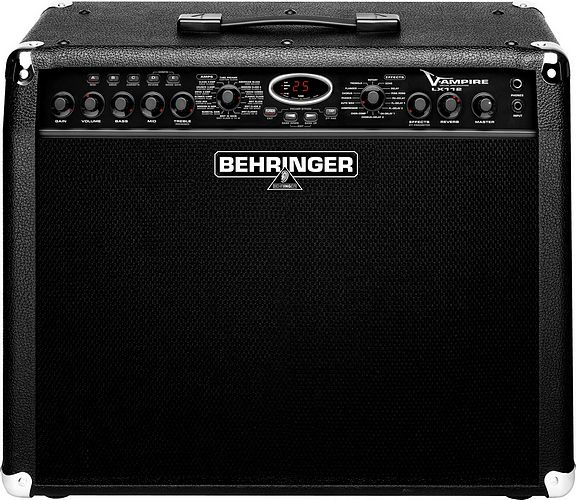 BEHRINGER V-AMPIRE LX112, 2 x 60 Watt Guitar Modeling Amplifier with 12