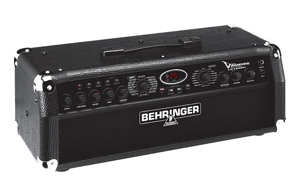 BEHRINGER V-AMPIRE LX1200H, 2 x 60-Watt Digital Guitar Modeling Amplifier Head