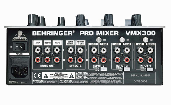 BEHRINGER PRO MIXER VMX300, DJ Mikseri, 3-kanavainen, BPM näytöillä, Cross kulmansäätö, Professional 3-channel DJ Mixer with BPM Counter