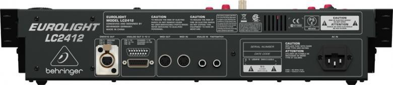 BEHRINGER EUROLIGHT LC2412 ammattitason valopöytä. 24kanavaa DMX. 24 presettiä, 120 sceneä. Professional 24-Channel DMX Lighting Console.Fantastinen, kom pakti valo pöytä, joka on varustettu sekä huippu - moder nilla digitaalisella DMX512-ohjauksella että analogi - lähdöillä, minkä ansiosta se toimii paikassa kuin paikassa.