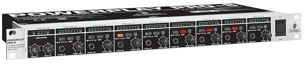 BEHRINGER POWERPLAY PRO-8 HA8000, 8-Channel High-Power Headphones Distribution Amplifier, kuulokevahvistin kahdeksalle kuulokkeelle