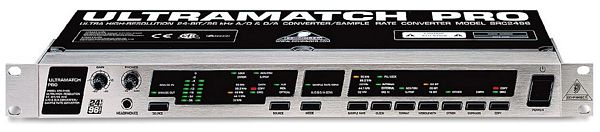 BEHRINGER ULTRAMATCH PRO SRC2496, Ultra High-Resolution 24-Bit/96 kHz A/D-D/A & Sample Rate Converter