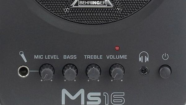 """BEHRINGER MS16 Monitor Speakers MS16 on aktiivinen kaiutinmalli, joka soveltuu monenlaisiin käyttötarkoituksiin kuten pieneen tietokonepohjai -seen studioon tai esim. keyboard-monitoriksi. MS16 on varustettu monipuolisilla kytkennöillä. Kaksi stereotuloa mahdollistavat kahden eri äänilähteen kytkemisen. Mukana on myös kuulokeliitäntä sekä mikrofonitulo. • 8W • 4"""" bassoelementti ja """"Hi Resolution"""" -diskantit"""