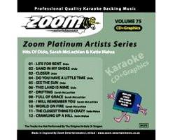 KARAOKE CDG Platinum Artists: Dido, Sara, discoland.fi
