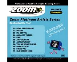 KARAOKE CDG Platinum Artists: Rare Beatles Hits Vol.1