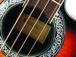 DIMAVERY RBB-400 Roundback, Acoustic Bass Guitar, Sunburst, 4 - Band Equalizer
