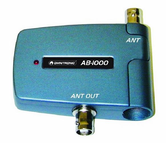 OMNITRONIC AB-1000 Professional Antenna Booster, direct connection with DR-1000, no external power supply needed