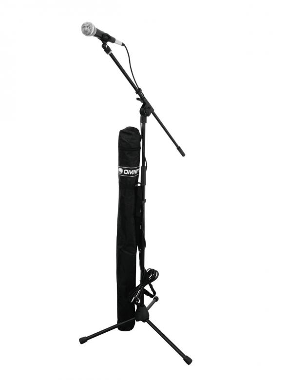 OMNITRONIC CMK-10 Mikrofonisetti, jalust, discoland.fi