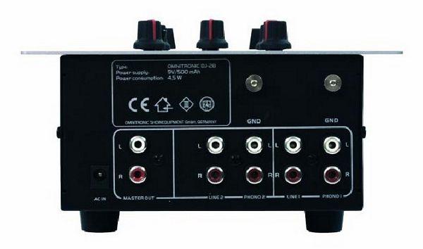 OMNITRONIC POISTUNUT...............DJ-28 Professional DJ-mixer, 2 + 1-channel (2x phono, 2x line, 1x Dj-mic)