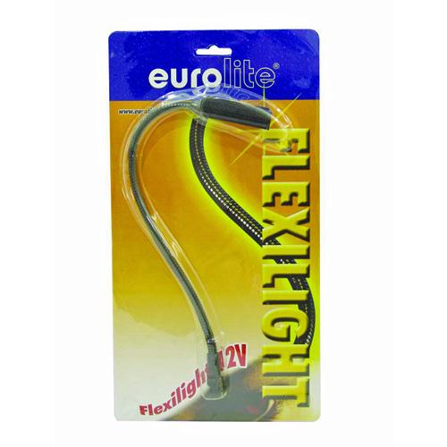 EUROLITE Flexilight 12V 5W Mikseri valo BNC liittimellä. Joutsenkaulan pituus 380mm, sekä paino noin 300g. Soveltuu miksereihin, joissa BNC liitin valoja varten. BNC Spread, round