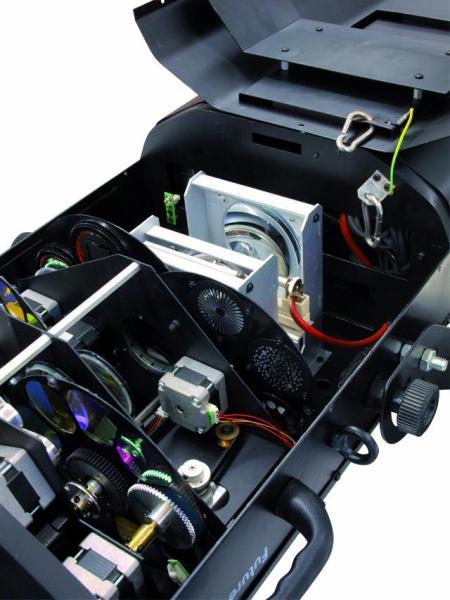 FUTURELIGHT PSC-1200 MK 2 PRO-Scan, 1200W, 19 DMX kanavaa, 2 värikiekkoa, 2 gobokiekkoa 18 väriä, 6 goboa