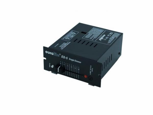 EUROLITE ED-5 1- Kanavainen Himmennin, single manual dimmer 1150W, IEC socket
