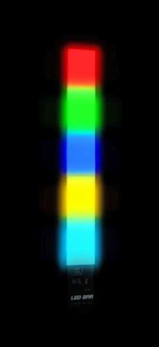 EUROLITE LED Bar-1800 DMX, LED-technology, RGB-colors, 5 segments, 23 LEDs/segment, total LEDs 115, power 25W
