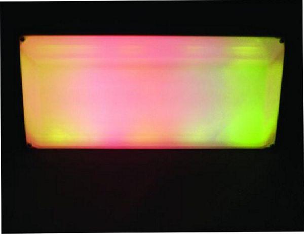 EUROLITE LED LMCP Panel 60 x 30 cm 230 V, All you need is a surface! DMX-ohjaimella voidaan yhdistää jopa 500 panelia, monivärinen, 144 lediä.
