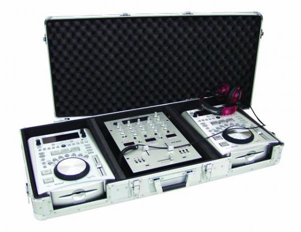 OMNITRONIC Kuljetuslaatikko DIGI-1 kahdelle CD-soittimelle ja 12