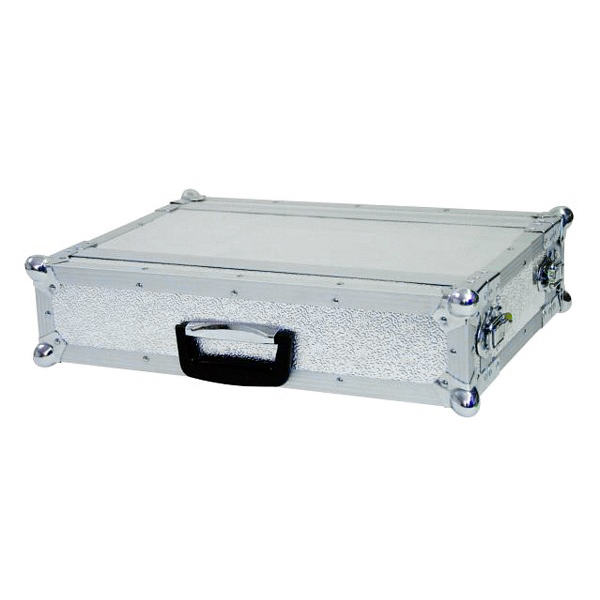 OMNITRONIC Efektiräkki. Effect rack CO DD, 2U, 24cm deep, alu. Professional flight case for 483 mm units (19