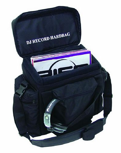 OMNITRONIC Poisto! Record-bag RB-50, black, approximately 50 LPs, useful and practical