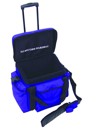 OMNITRONIC POISTUNUT TUOTE.... Record-trolley RT-80, blue, approximately 80 LPs, useful and practical