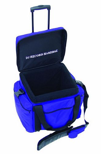 OMNITRONIC POISTUNUT TUOTE.... Record-trolley RT-100, blue, approximately 100 LPs, useful and practical