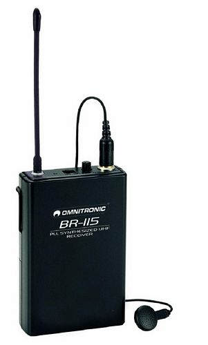 OMNITRONIC BR-115 wireless receiver + ea, discoland.fi