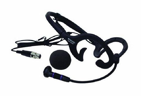 OMNITRONIC HS-1000 Päämikki Säänkestävä, Soveltuu Aerobic käyttöön, Langattomiin Radiomikrofoni järjestelmiin (taskulähettimeen), varustettu mini XLR liittimellä, 3-pin, Headset microphone/xlr