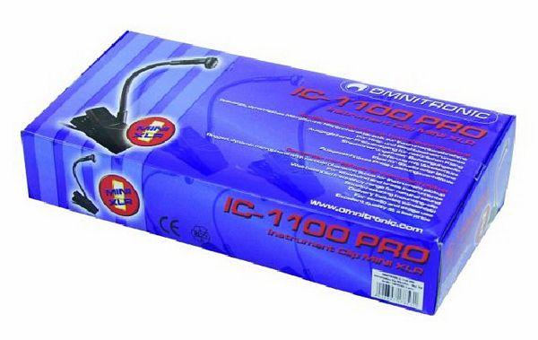 OMNITRONIC IC-1100 PRO instrumentaali mikki cardioidi, clip on kiinnikkeellä sekä Mini XLR liittimellä. Vaatii Phantom virran. toimitetaan hienossa boxissa.   Clip Mini XL, condenser microphone for instrument pickup