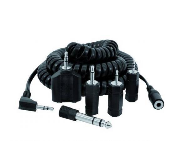 OMNITRONIC 5m kuulokejatkojohto sekä adapterisetti