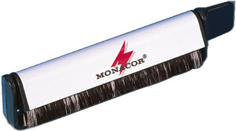 MONACOR DC-100, Levyharja Hiilikuitu Harja Vinyylilevyille, Puhdistukseen sekä sähköisyyden vähentämiseen, Carbon fibre brush for cleaning records, necessary DJ-accessory.