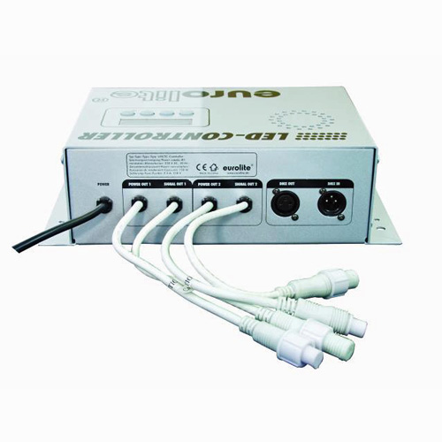 EUROLITE LED LMCTC DMX controller, Multicolor LED-controller. Tarvitaan järjestelmän ohjaamiseen. Max 2000 tubea.