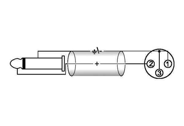 OMNITRONIC Snake-kaapeli, Snake Cable 8 x XLR-female to 8 x Jack Plug 6,3mm mono, 6m
