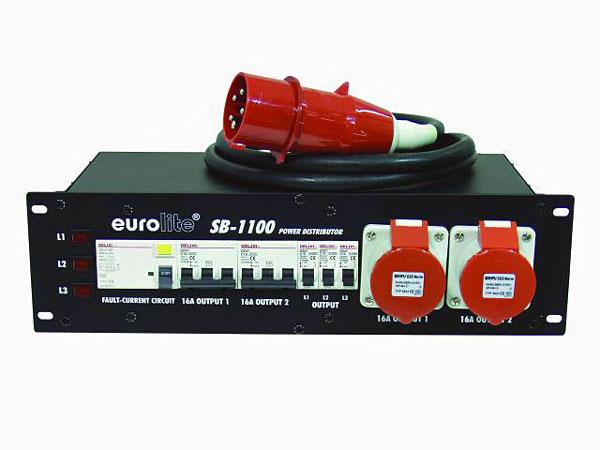 EUROLITE SB-1100 Työpaikkakeskus 32A räkkikokoinen (483mm 19