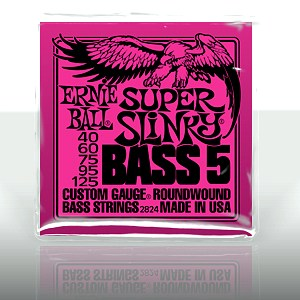 ERNIE BALL EB-2824 Super Slinky 5-string Bass Nickel Wound .040 - .125