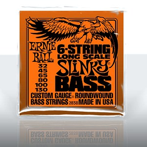 ERNIE BALL EB-2838 6-string Slinky Bass Long Scale Nickel Wound .032 - .130