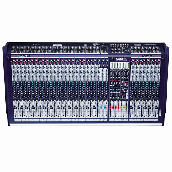 SOUNDCRAFT GB4 32/4 Sali- ja monitorimikseri, GB30-mikrofonietuaste, korkealuokkainen nelialueinen GB30 EQ, 2 stereotulokanavaa, 4-ryhmää, left-center-right lähdöt, 8 auxia, 7x4 matriisi, 4 muteryhmää, direct outit kanavissa