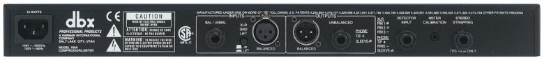 DBX 160A Mono kompressori/limitteri overeasy ja hard-knee kompressointi.