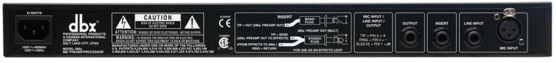 DBX 286S HOPEA mikrofoni etuaste ja prosessori Mic preamp/processor