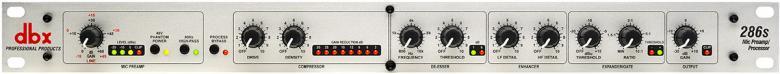 DBX 286S HOPEA mikrofoni etuaste ja pros, discoland.fi