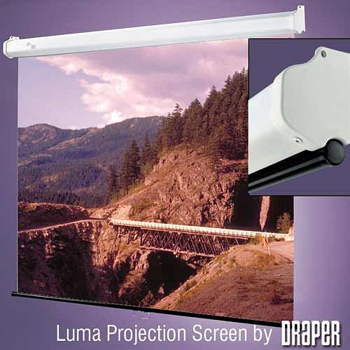 DRAPER Luma 163 cm x 212 cm, Fiberglass matt white, highest quality spring-roller projection screen for wall or ceiling mounting