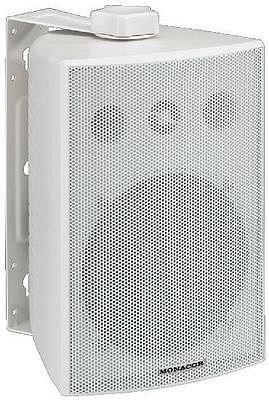 MONACOR POISTUNUT TUOTE................................ESP-230/WS, PA speaker systems, in a weatherproof white plastic cabinet with aluminium front grille
