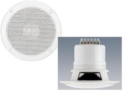MONACOR EDL-205, Weatherproof flush-mount PA speakers 20/15/10/5/2,5W RMS